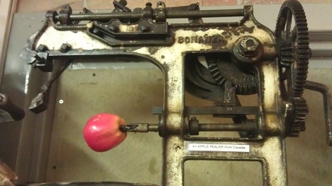 Old apple peeler