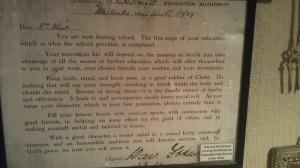 Dalbeattie museum school leaving certificate
