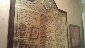 Dalbeattie museum: World War I school memorial