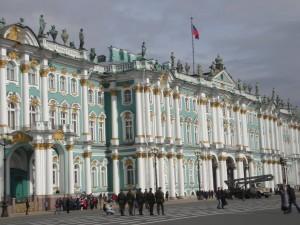 Hermitage museum exterior, St Petersburg