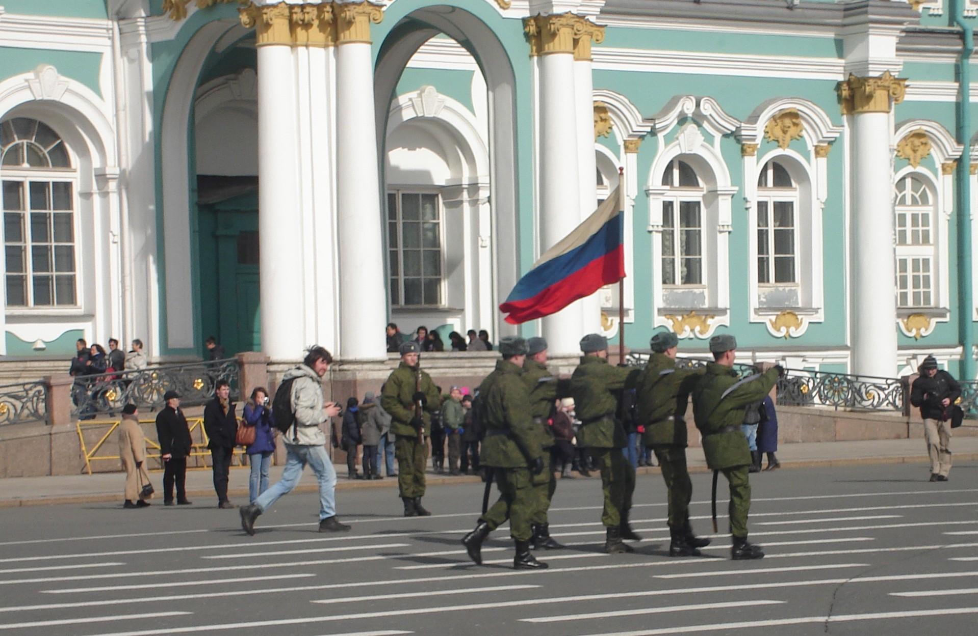 St Petersburg soldiers