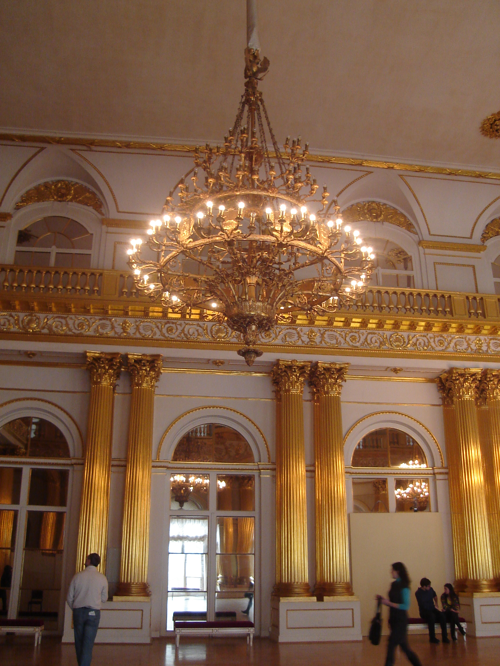 Chandelier in Hermitage, St Petersburg