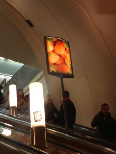 St Petersburg metro oranges