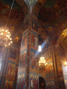 Mosaics in Church on Spilled Blood, St Petersburg