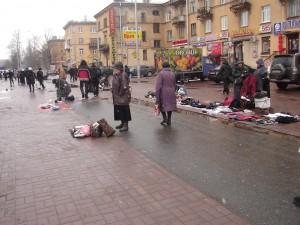 Grim flea market, St Petersburg