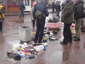 Street market, St Petersburg