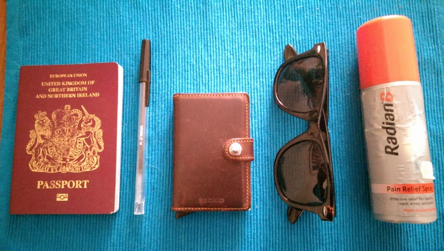 Secrid miniwallet size comparison to other objects