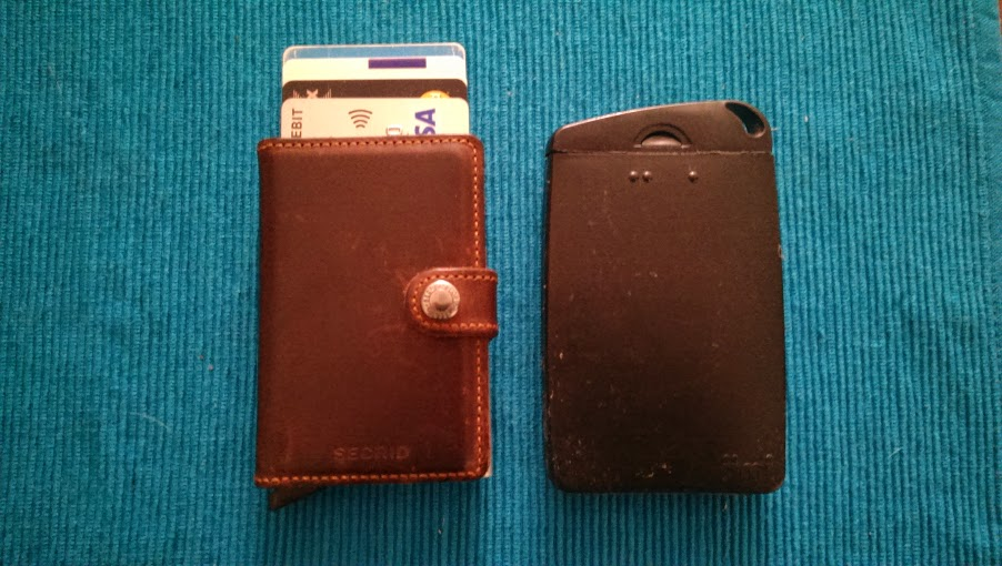 Secrid wallet Jimi wallet size comparison with cards out